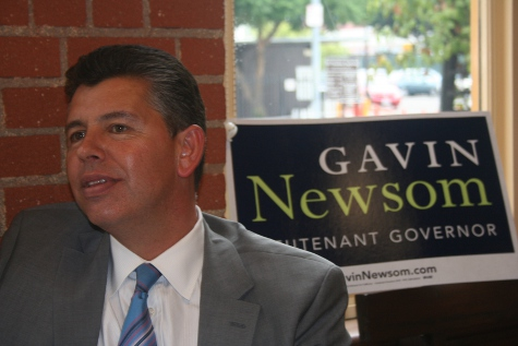 Abel Maldonado at Gavin Newsom Rally