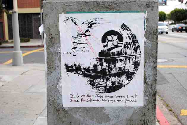 Death Star Street Art